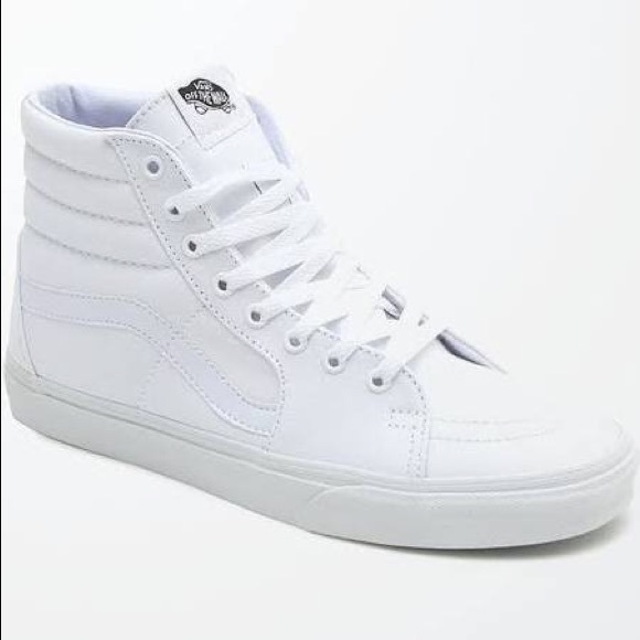 9a185270 All white High top vans men's size 6.5